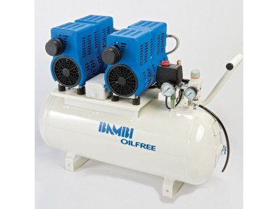Bambi Air Compressors PT 50D - Ultra Low Noise Oil free Compressors